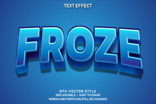 Print on Demand: Editable Text Effect Cute Froze Premium Graphic Graphic Templates By yosiduck