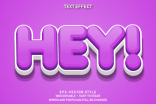 Print on Demand: Editable Text Effect Cute Hey Premium Graphic Graphic Templates By yosiduck