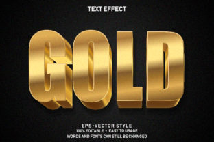 Print on Demand: Editable Text Effect Gold Premium Graphic Graphic Templates By yosiduck
