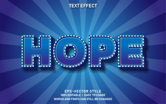 Editable Text Effect Hope Premium Graphic Graphic Templates By yosiduck