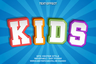 Editable Text Effect Kids Premium Graphic Graphic Templates By yosiduck