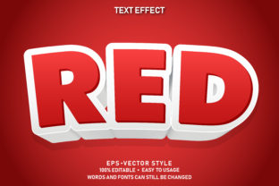Print on Demand: Editable Text Style Effect Red Premium Graphic Graphic Templates By yosiduck