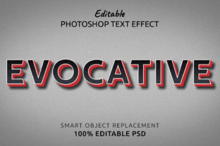 Print on Demand: Evocative Photoshop Editable Text Effect Graphic Layer Styles By IYIKON