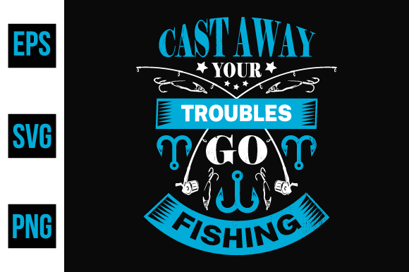 Print on Demand: Fishing Typographic T Shirt Design. Graphic Print Templates By ajgortee