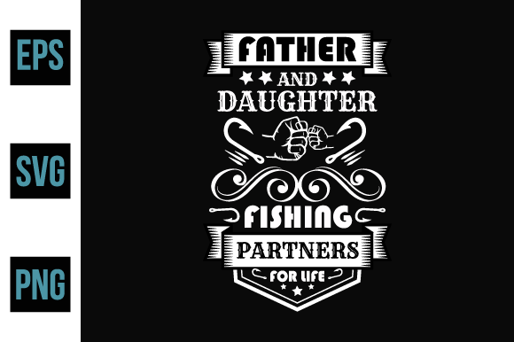 Print on Demand: Fishing Typography T Shirt Design. Graphic Print Templates By ajgortee