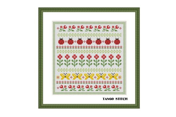 Floral Ornament Cross Stitch Pattern Graphic Cross Stitch Patterns By Tango Stitch