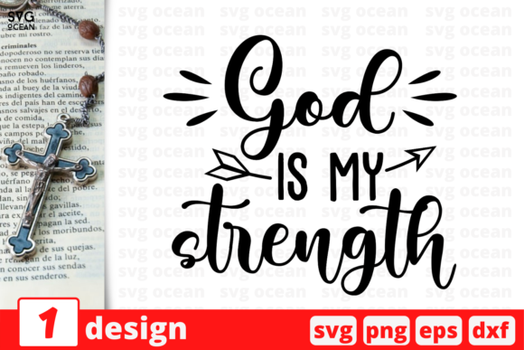 God is My Strength Graphic Crafts By SvgOcean