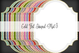 Print on Demand: Gold Foil Shaped Mat 3 Graphic Illustrations By Simply Paper Craft
