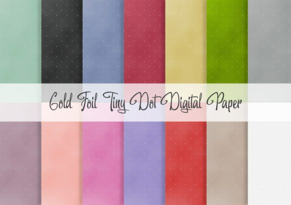 Print on Demand: Gold Foil Tiny Dot Digital Paper Graphic Patterns By Simply Paper Craft