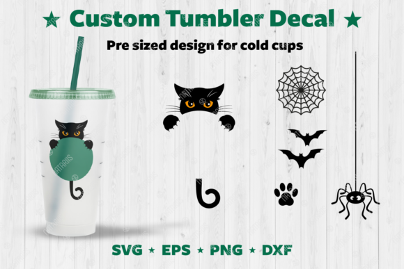 Halloween Custom Tumbler Decal. Graphic Crafts By Natariis Studio