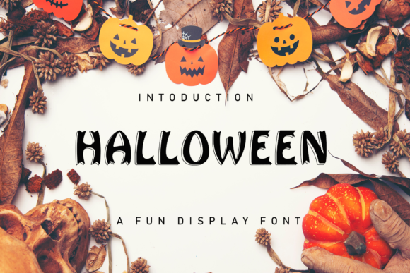 Print on Demand: Halloween Display Font By giatstudios