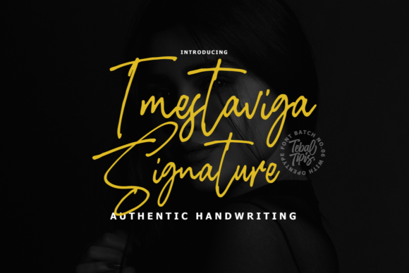 Print on Demand: Imestaviga Signature Script & Handwritten Font By tebaltipiss