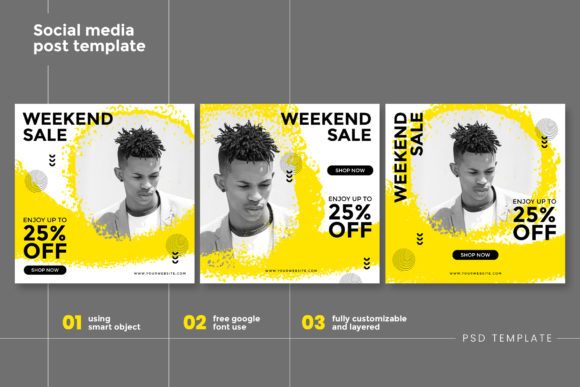Print on Demand: Intagram Post Template Graphic Graphic Templates By DYSA Studio
