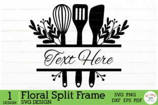 Kitchen Bake Decal Monogram Frame Graphic Crafts By redearth and gumtrees