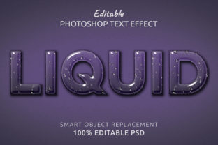 Print on Demand: Liquid Photoshop Editable Text Effect Graphic Layer Styles By IYIKON
