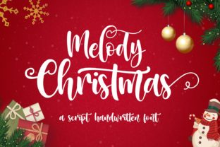 Print on Demand: Melody Christmas Script & Handwritten Font By Mozarella