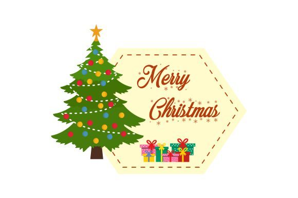 Merry Christmas Label Banner Graphic Logos By 2qnah