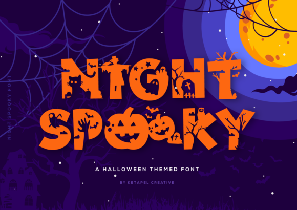 Print on Demand: Night Spooky Display Font By ketapelcreative