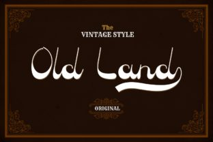 Print on Demand: Old Land Display Font By yunitaecy