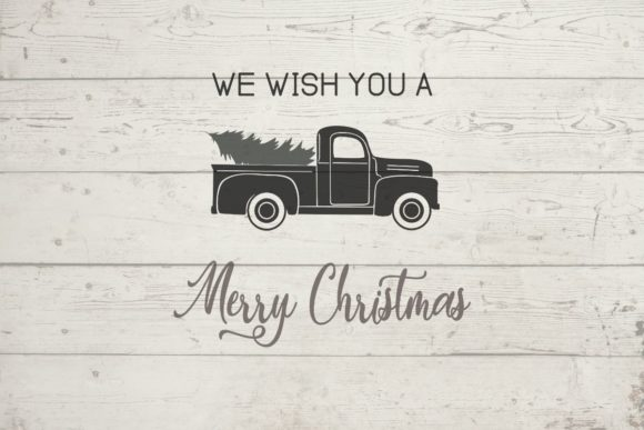 Old Truck Merry Christmas SVG Graphic Crafts By sayitwithsimplicity