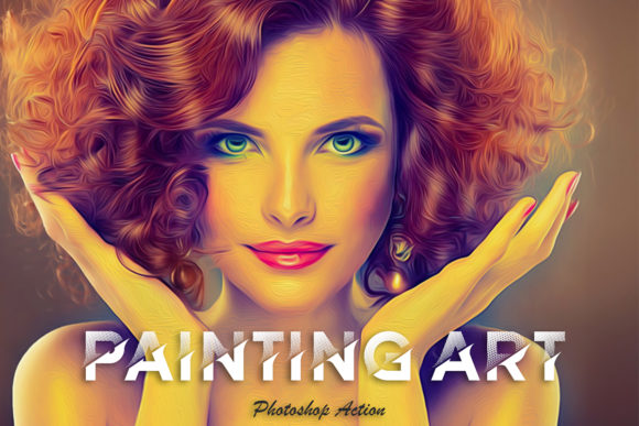 Print on Demand: Painting Art Photoshop Action Graphic Actions & Presets By MS-Creation