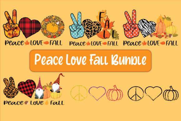 Print on Demand: Peace Love Fall Sublimation Bundle Graphic Crafts By TripleBcraft