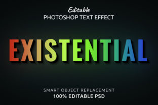 Print on Demand: Photoshop Editable Text Effect Graphic Layer Styles By IYIKON