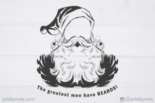 Print on Demand: Quote About Men, Beards, and Santa. SVG Graphic Illustrations By artsbynaty
