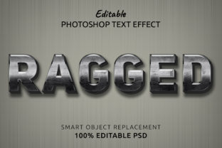 Print on Demand: Ragged Photoshop Editable Text Effect Graphic Layer Styles By IYIKON