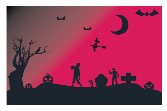 Silhouette Halloween  Background Graphic Illustrations By optimasipemetaanlokal