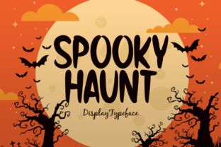 Print on Demand: Spooky Haunt Display Font By Seemly Fonts