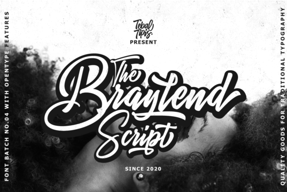 Print on Demand: The Braylend Script Script & Handwritten Font By tebaltipiss