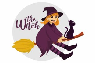 Print on Demand: The Witch. Halloween Vector Illustration Graphic Illustrations By Joharium