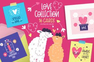 Print on Demand: Valentine's Day Greeting Cards Graphic Illustrations By FindsArtDesign