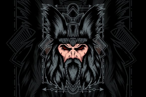 Viking Head Sacred Geometry Graphic Illustrations By to.aneffing