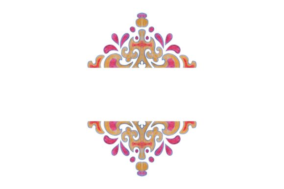 Watercolor Ornament Frame Border Set Graphic Preview