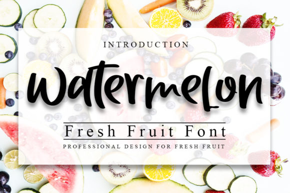 Print on Demand: Watermelon Script & Handwritten Font By Inermedia STUDIO