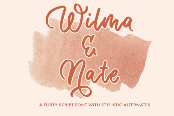 Print on Demand: Wilma & Nate Script & Handwritten Font By freelingdesignhouse