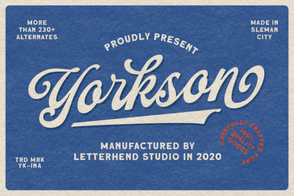 Print on Demand: Yorkson Script & Handwritten Font By letterhend