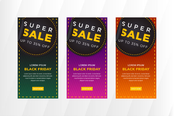 Print on Demand: Super Sale Vertical Banner Graphic Product Mockups By noory.shopper