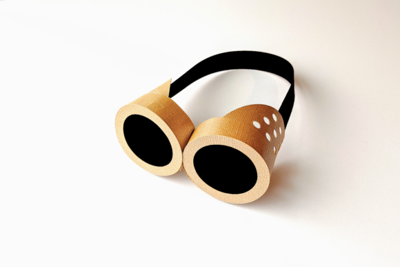 3D Steampunk Goggles SVG Graphic 3D SVG By RisaRocksIt