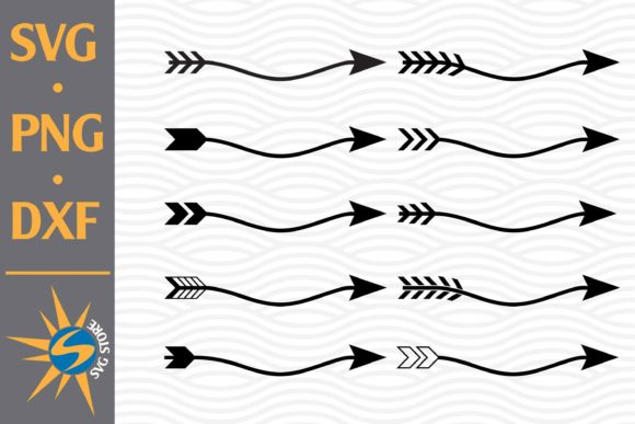 Print on Demand: Arrow Curved Graphic Crafts By SVGStoreShop