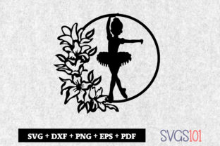 Ballerina Dancer Mandala Paper Cutting Graphic Crafts By svgs101