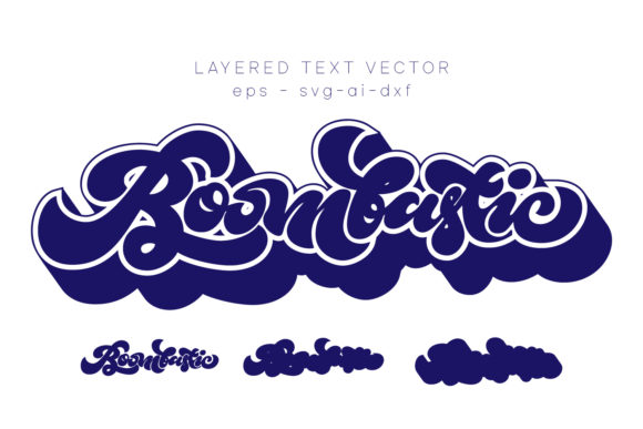 Print on Demand: Boombastic Vector Text Graphic Print Templates By Cititype