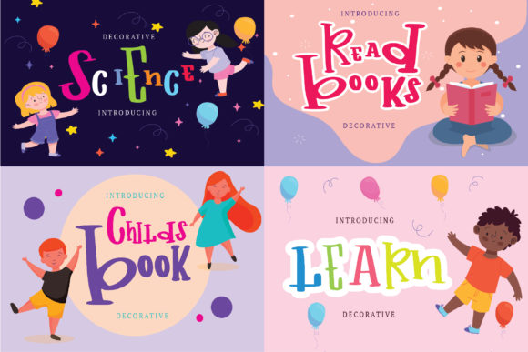Print on Demand: Childs Book Display Font By goodigital