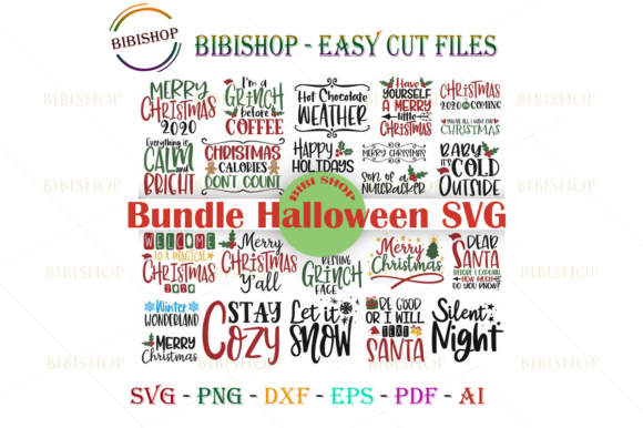 Christmas SVG Bundle Graphic Illustrations By BiBi Shop