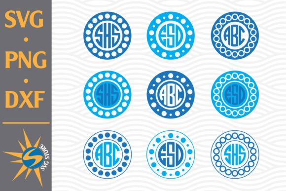 Print on Demand: Circle Monogram Graphic Crafts By SVGStoreShop