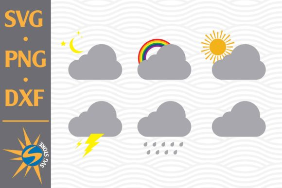 Print on Demand: Cloud Weather Graphic Crafts By SVGStoreShop