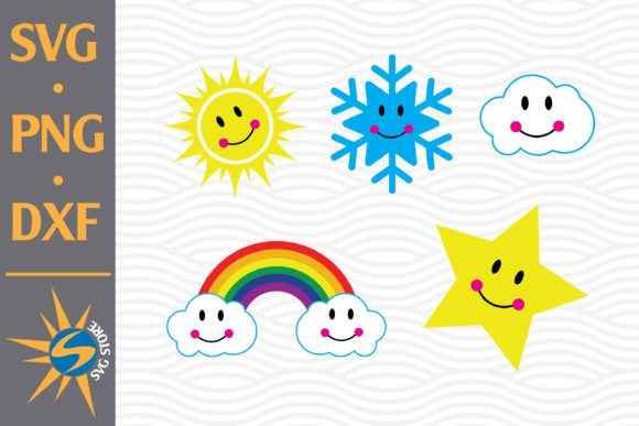 Print on Demand: Cute Weather Graphic Crafts By SVGStoreShop