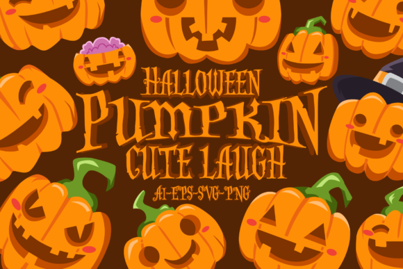 Print on Demand: HALLOWEEN PUMPKIN CUTE LAUGH SET Graphic Illustrations By Bayu Baluwarta